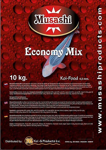Musashi Economy Mix 10 Kg - Kiëta Koi Veendam