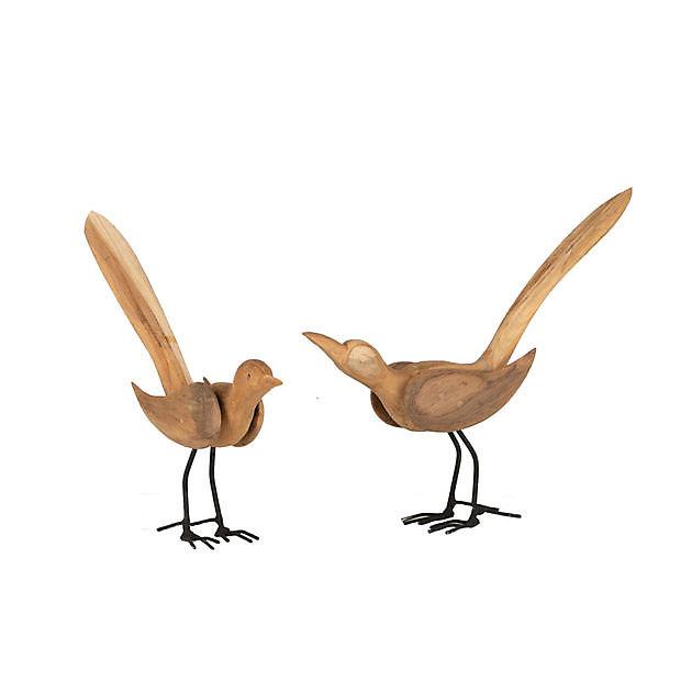 Teak houten vogel - Kiëta Koi Veendam