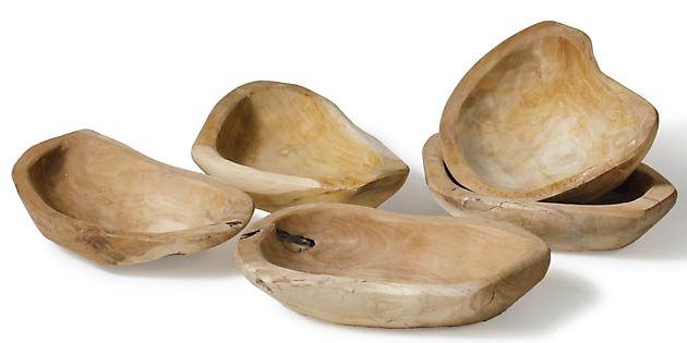 Teak houten schaal - Kiëta Koi Veendam