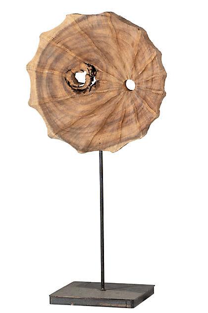Teakhout ornament op voet 63 cm - Kiëta Koi Veendam